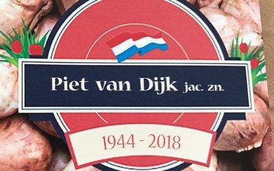 Overlijden van Piet van Dijk